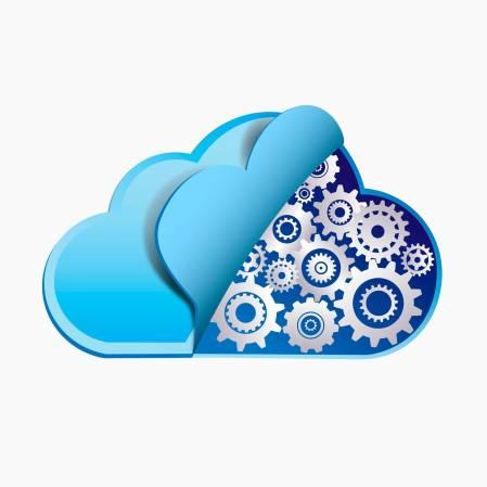 Cloud Technologie mit Metalzahnrädern