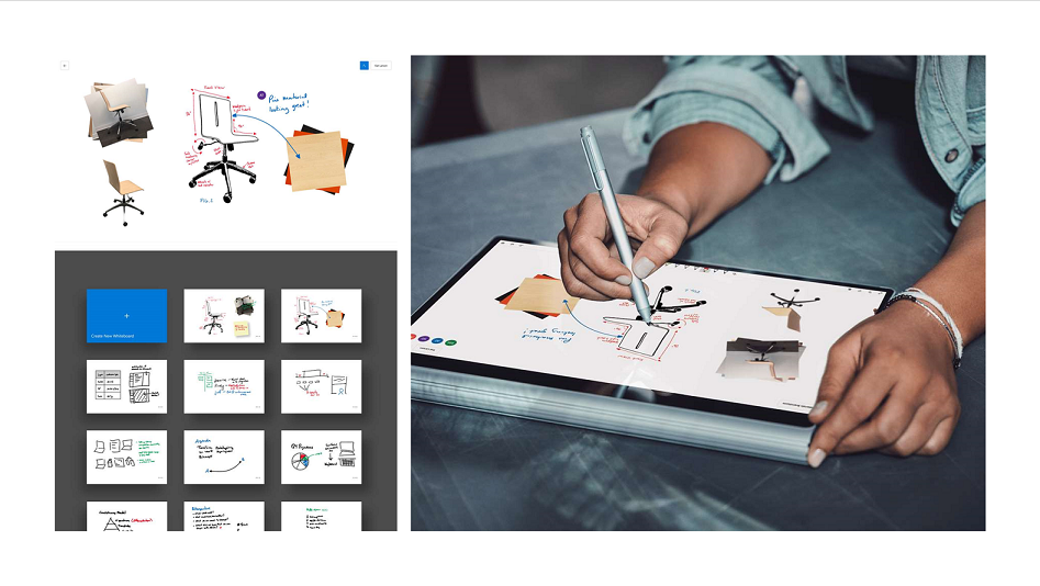 Microsoft Whiteboard, App Screenshots