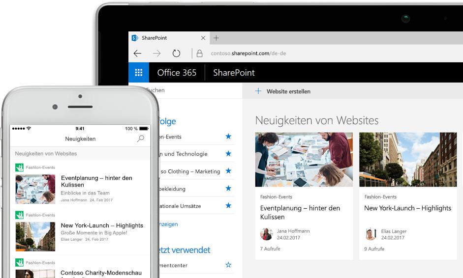 SharePoint – Unternehmensspezifische Designs und Vorlagen im Office 365