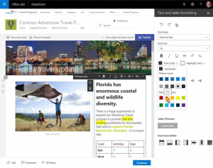 Text editieren in SharePoint