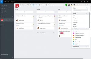 Microsoft Planner, Gruppieren und Filtern von Aufgaben