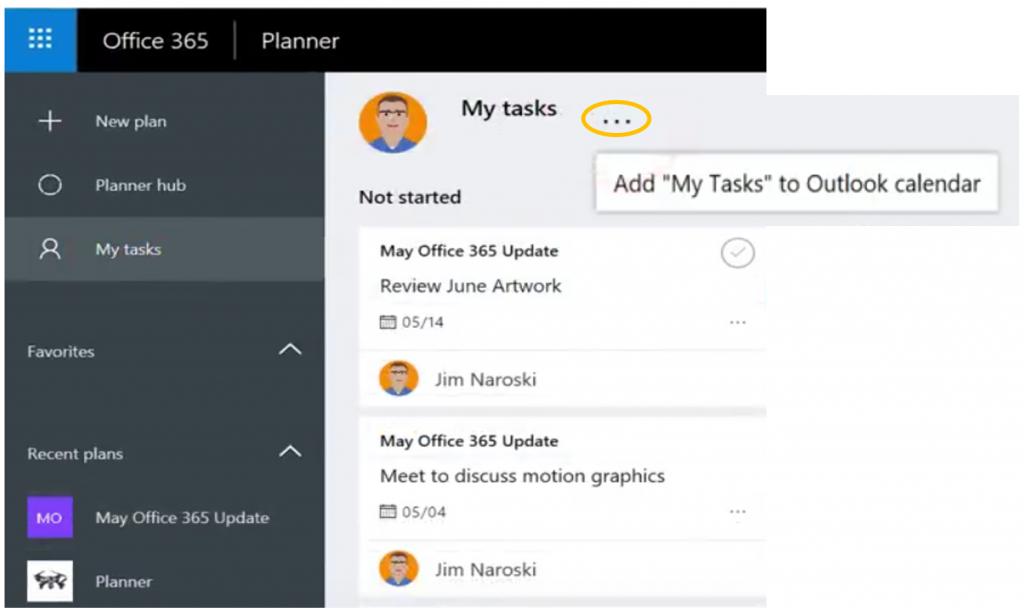 'My Tasks' in Office 365 Planner