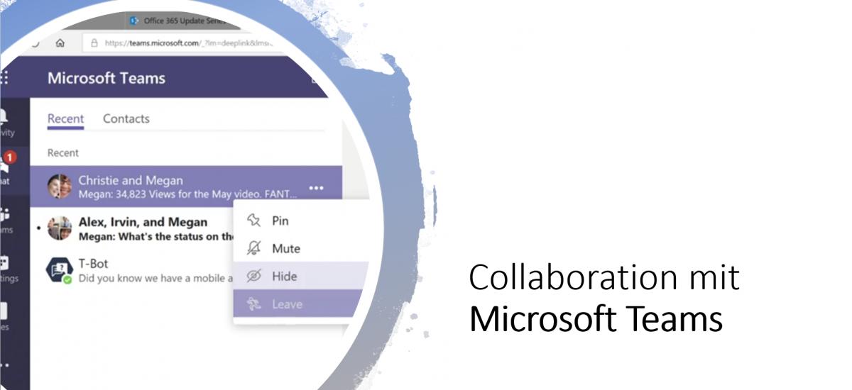 Microsoft Teams wird zu einem starken Collaboration Hub