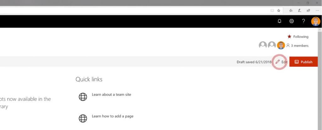 Hinzufügen eines Planner Webparts mit Edit