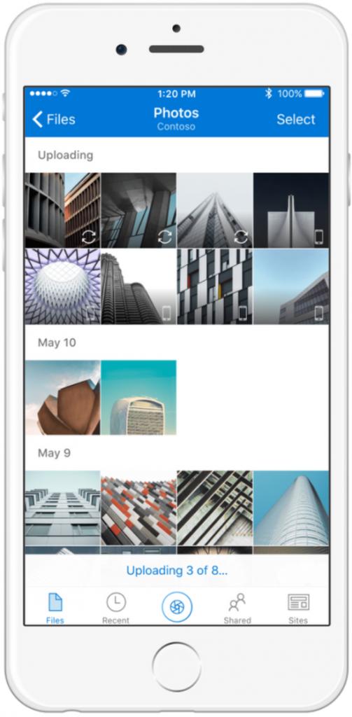 Kamera Upload für OneDrive for Business