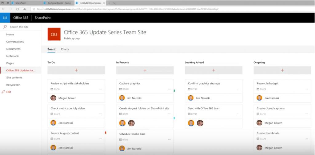 Planner Aufgaben auf SharePoint Seite