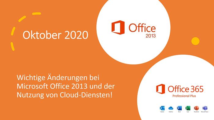 MS Office 2013 unterstützt keine Verbindungen zu Cloud-Diensten
