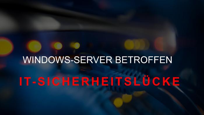 Sicherheitsprobleme beim MS Windows Server